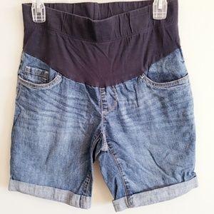 Maternity denim jean shorts -Oh Baby by Motherhood